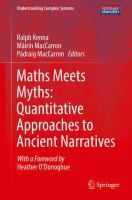 Cover image for Maths Meets Myths: Quantitative Approaches to Ancient Narratives
