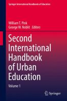 Cover image for Second International Handbook of Urban Education