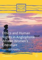 Cover image for Ethics and Human Rights in Anglophone African Women's Literature Feminist Empathy
