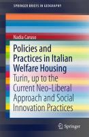 Cover image for Policies and Practices in Italian Welfare Housing Turin, up to the Current Neo-Liberal Approach and Social Innovation Practices