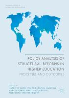 Cover image for Policy Analysis of Structural Reforms in Higher Education Processes and Outcomes