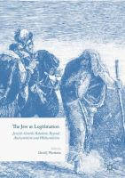 Cover image for The Jew as Legitimation Jewish-Gentile Relations Beyond Antisemitism and Philosemitism