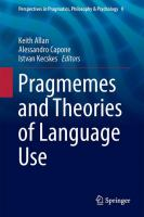 Cover image for Pragmemes and Theories of Language Use