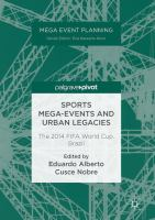 Cover image for Sports Mega-Events and Urban Legacies The 2014 FIFA World Cup, Brazil