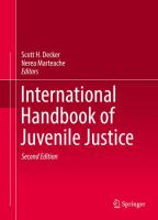 Cover image for International Handbook of Juvenile Justice