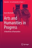 Cover image for Arts and Humanities in Progress A Manifesto of Numanities