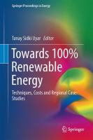 Cover image for Towards 100% Renewable Energy Techniques, Costs and Regional Case-Studies