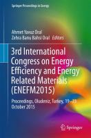Cover image for 3rd International Congress on Energy Efficiency and Energy Related Materials (ENEFM2015) Proceedings, Oludeniz, Turkey, 19–23 October 2015