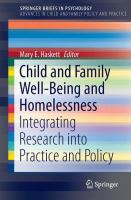 Cover image for Child and Family Well-Being and Homelessness Integrating Research into Practice and Policy