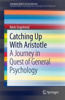 Cover image for Catching Up With Aristotle A Journey in Quest of General Psychology