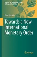 Cover image for Towards a New International Monetary Order