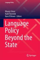 Cover image for Language Policy Beyond the State