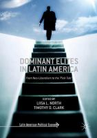 Cover image for Dominant Elites in Latin America From Neo-Liberalism to the 'Pink Tide'