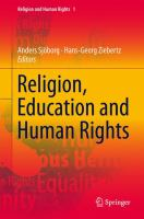 Cover image for Religion, Education and Human Rights Theoretical and Empirical Perspectives