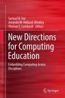 Cover image for New Directions for Computing Education Embedding Computing Across Disciplines