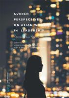 Cover image for Current Perspectives on Asian Women in Leadership A Cross-Cultural Analysis
