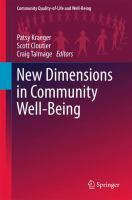 Cover image for New Dimensions in Community Well-Being