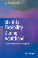 Cover image for Identity Flexibility During Adulthood Perspectives in Adult Development