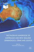 Cover image for The Palgrave Handbook of Australian and New Zealand Criminology, Crime and Justice