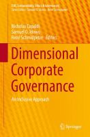 Cover image for Dimensional Corporate Governance An Inclusive Approach