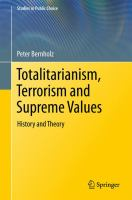 Cover image for Totalitarianism, Terrorism and Supreme Values History and Theory