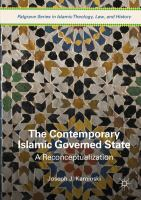 Cover image for The Contemporary Islamic Governed State A Reconceptualization