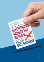 Cover image for Referendums Around the World With a Foreword by Sir David Butler