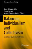 Cover image for Balancing Individualism and Collectivism Social and Environmental Justice
