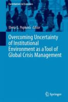 Cover image for Overcoming Uncertainty of Institutional Environment as a Tool of Global Crisis Management