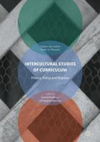 Cover image for Intercultural Studies of Curriculum Theory, Policy and Practice