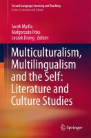 Cover image for Multiculturalism, Multilingualism and the Self: Literature and Culture Studies