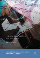 Cover image for Film/Music Analysis A Film Studies Approach