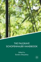 Cover image for The Palgrave Schopenhauer Handbook