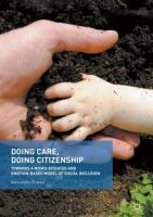 Cover image for Doing Care, Doing Citizenship Towards a Micro-Situated and Emotion-Based Model of Social Inclusion
