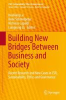 Cover image for Building New Bridges Between Business and Society Recent Research and New Cases in CSR, Sustainability, Ethics and Governance