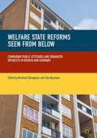 Cover image for Welfare State Reforms Seen from Below Comparing Public Attitudes and Organized Interests in Britain and Germany