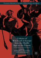 Cover image for Cultures of Witchcraft in Europe from the Middle Ages to the Present