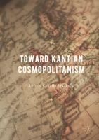 Cover image for Toward Kantian Cosmopolitanism
