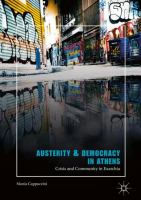 Cover image for Austerity & Democracy in Athens Crisis and Community in Exarchia