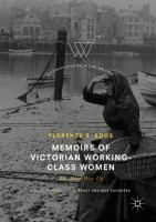 Cover image for Memoirs of Victorian Working-Class Women The Hard Way Up