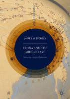 Cover image for China and the Middle East Venturing into the Maelstrom