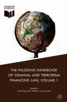 Cover image for The Palgrave Handbook of Criminal and Terrorism Financing Law