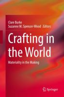 Cover image for Crafting in the World Materiality in the Making