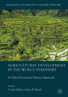 Cover image for Agricultural Development in the World Periphery A Global Economic History Approach
