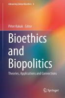 Cover image for Bioethics and Biopolitics Theories, Applications and Connections