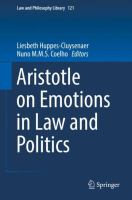 Cover image for Aristotle on Emotions in Law and Politics