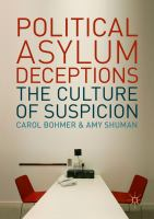 Cover image for Political Asylum Deceptions The Culture of Suspicion