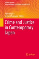 Cover image for Crime and Justice in Contemporary Japan