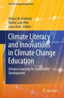 Cover image for Climate Literacy and Innovations in Climate Change Education Distance Learning for Sustainable Development