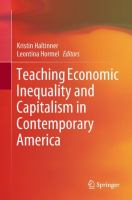 Cover image for Teaching Economic Inequality and Capitalism in Contemporary America
